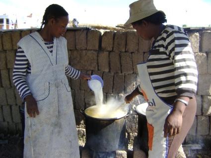 Preparando la comida