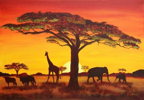 """""""Sonnenuntergang in Afrika"""""""