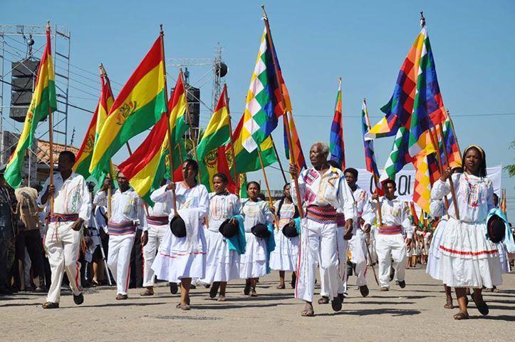 Afrobolivianos en banderas