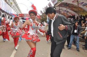 Evo Morales y la China Morena