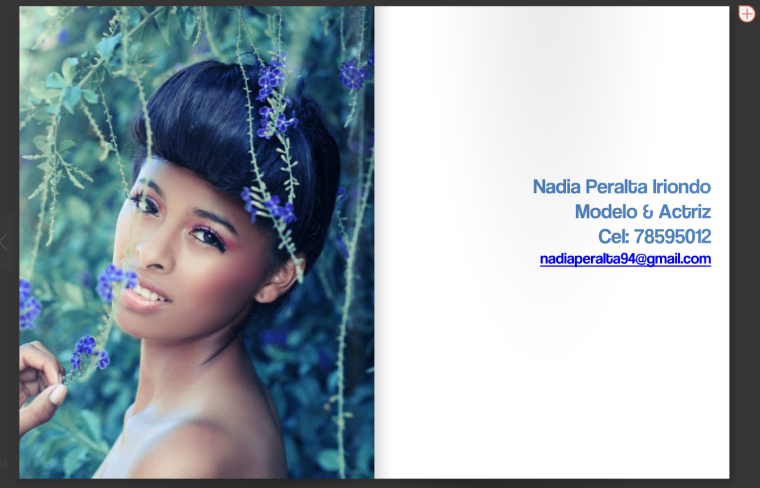 Nadia Peralta's contact/ Foto: Paola Lambertin